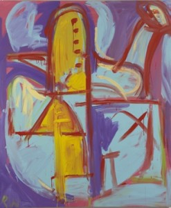 Dick Watkins, 'The Metaphysician', 2008, acrylic on canvas, 183 x 152 cm, Courtesy the artist and Liverpool Street Gallery
