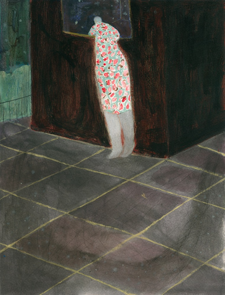 Firenze Lai, 'Starry Starry Room', 2012, acrylic on paper 40.5 x 30.5 cm. Photo courtesy of the artist.