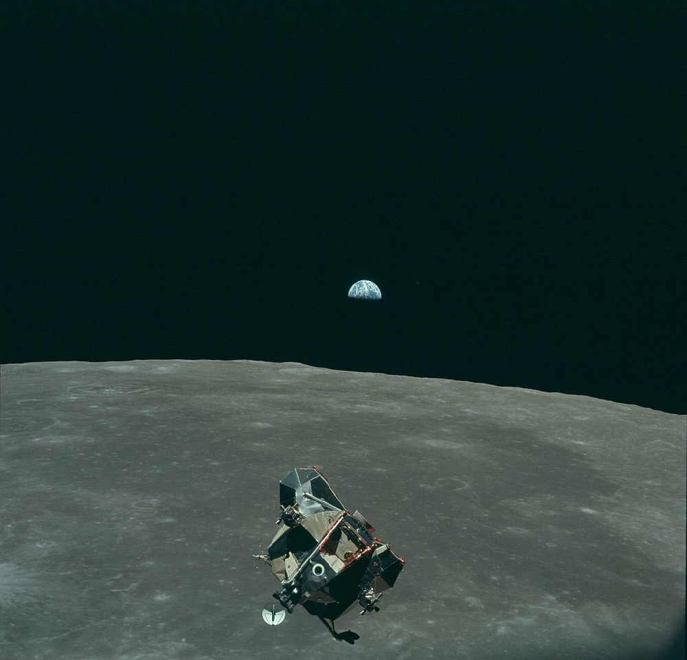 Apollo 11 Lunar Module. By NASA / Apollo 11 [Public domain], via Wikimedia Commons