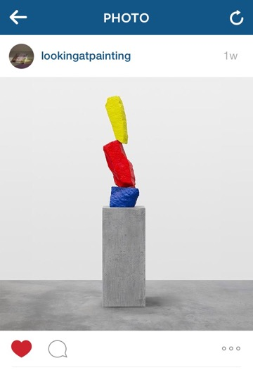 A new work by Ugo Rondinone to be included in the artist's upcoming exhibition at Sadie Coles HQ, London. (Also, I like that this reminds me of Bart Simpson.) Post by @lookingatpainting