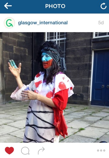 UK based artist Marvin Gaye Chetwynd at the Edinburgh Art Festival. Photo by @Glasgow_International
