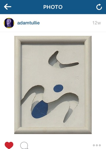 Jean Arp's Moustaches, 1925, posted by @adamtullie