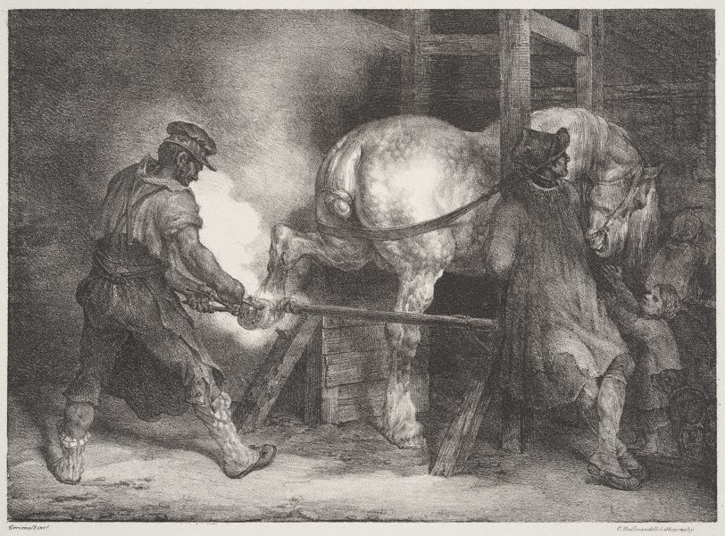 Gericault, The Flemish farrier, 1821