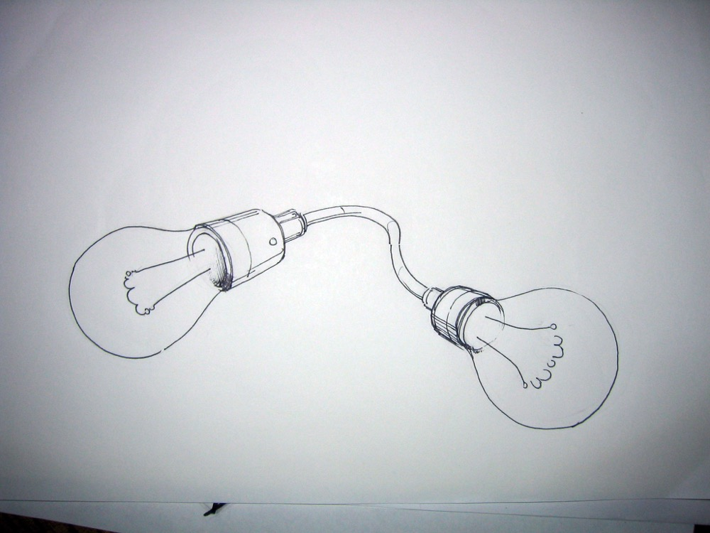 Sebastian Moldovan, preparatory drawing for Almost Censored, 2005. Courtesy the artist