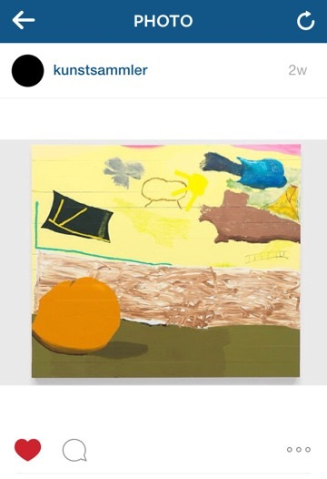 A post by @kunstsammler of this painting by Torey Thornton, who has an upcoming solo exhibition at Stuart Shave/Modern Art, London