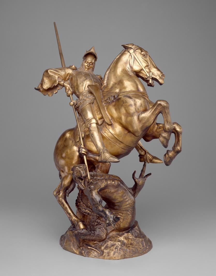 Emmannuel Frémiet, Saint George and the dragon, 1891