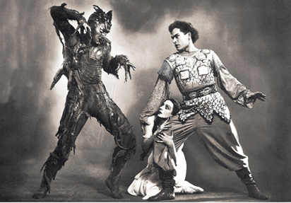 Shurale Ballet. Image credit: Production still from 'Shurale' ballet. 1950 Kirov Theatre of Opera and Ballet, Leningrad, USSR. www.balletandopera.com