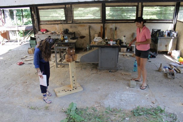 The wood-workshop of Maria Pop Timaru. Photo credit Dragoş Bădiţă